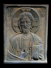 Jesus Christ Christian Byzantine Icon Wall Relief Sculpture Replica Reproduction