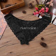 Sexy Men's Lingerie Lace Sissy Pouch Panties Briefs G-string Thong Underwear XL
