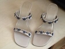 MARKS AND SPENCER JEWELLED ELEGANT LADIES STRAP SHOES SIZE 4