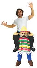Cinco De Mayo Piggyback Adult Costume Mexico Spanish Funny Halloween