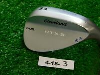 Cleveland RTX-3 Tour Satin V-MG 54* 11* Sand Wedge Dynamic Gold Steel Excellent