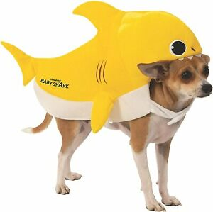 Baby Shark Yellow Pinkfong Cute Fancy Dress Up Halloween Pet Dog Cat Costume