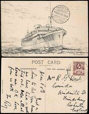 GOLD COAST TAKORADI WHARF Large+Small 1935 SHIP ARTIST PPC ELDER DEMPSTER LINES