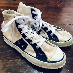 NOS VINTAGE 50s 60s Super Faro Canvas Shoes Sneakers Mexican Converse Hi top