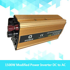 Boat Car 1500W converter power inverter DC 12V to AC 240V invertor USB charge