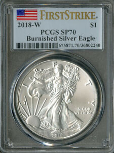 US Coin 2018-W Silver Eagle Dollar PCGS SP70 NO RESERVE!