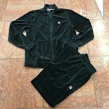 Men's Fila Black Signature Full Zip Tracksuit