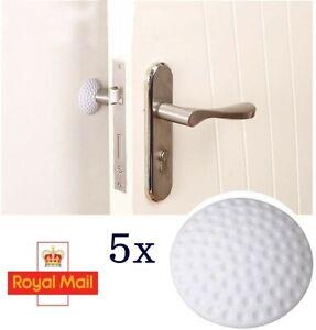5 x Wall Protector Silicone Self Adhesive Door Handle Stopper UK