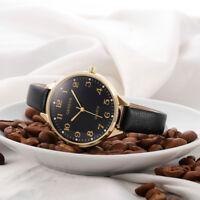 Simple Design Women Casual Faux Leather Strap Quartz Analog Wrist Watch Watches