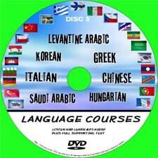 7 BEGINNERS LANGUAGE COURSES DVD ROM AUDIO TEXT LEVANTINE HUNGARIAN KOREAN NEW 3