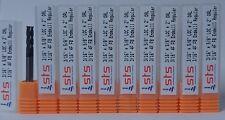 "Group of 10pcs - 3/16"" Carbide Endmill 4 Flute Flat Bottom Regular TiAlN"