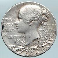 1897 Great Britain UK VICTORIA Diamond Jubilee OLD Silver SPECIMEN Medal i88120