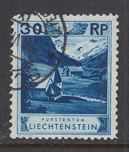Liechtenstein Sc 99a used 1930 30r ultra Chapel, perf 11½x10½ Forgery