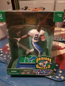"""Barry Sanders Detroit Lions STARTING LINEUP GRIDIRON GREATS 7"""" tall figure New"""