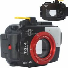 60m 195ft Underwater Diving Waterproof Housing Case for Olympus TG3 TG4 Camera