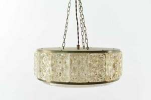 🌞Mid Century Modern Beautiful Orrefors Crystal and Brass Chandelier Fixture