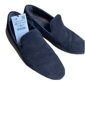 NAVY ZARA MAN SUEDE LOAFERS SHOES