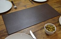 ARTISAN BROWN Bonded Leather TABLE RUNNER MAT Centerpiece MADE IN UK Home Decor