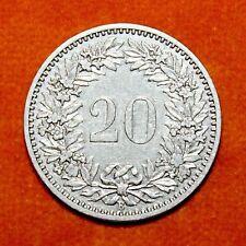 KM# 29 - 20 Rappen - Switzerland 1883 (XF)