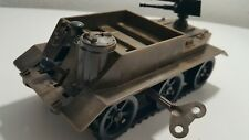 VINTAGE TOY WIND UP MACHINE GUN CARRIER PLASTIC METAL RUBBER IGRA CZECHOSLOVAKIA