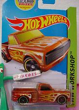 2014 Hot Wheels CUSTOM '69 CHEVY PICKUP #217 ∞Orange truck∞HW GARAGE ∞Case J/K
