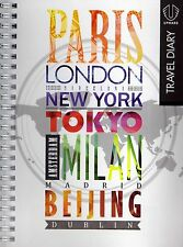 Travel Diary A5 Slip Cover World Map Card Pockets Phone Codes Journal New