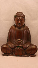 More details for superb hand carved buddha by a master carver 10