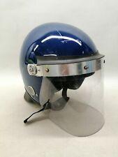 More details for ex police defender riot helmet blue public order crowd control display collector