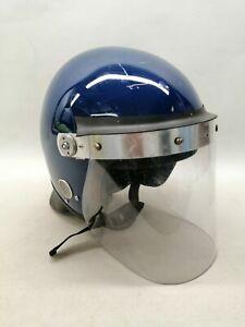 Ex Police Defender Riot Helmet Blue Public Order Crowd Control Display Collector