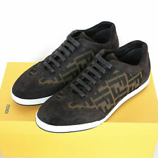 FENDI zucca FF monogram logo sneakers leather trainers shoes 6.5-UK/7.5-US NEW