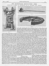 1908 Antique Engineering Print - Monkemoller Friction Screw Press