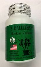3 Bottles of 3 Ballerina Diet Herbal Weight Loss Pills  90 Capsules