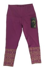 BSP Juniors Active Maroon Capri Mid Leggings Size Small  Elastic Waist