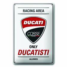 DUCATI Corse Ducatisti Reklame Blechschild Metallschild Schild Metal Sign NEU !!