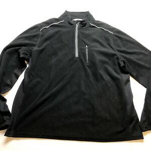 Exertek Black Reflective Full Zip Fleece Jacket Sz XL A1578