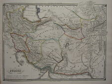 1850 SPRUNER ANTIQUE HISTORICAL MAP ~ PERSIA SISIAN HYRCANIA