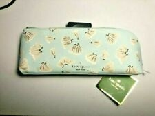 KATE SPADE NWT ON POINT LIGHT BLUE PENCIL CASE2 PENCIL RULER SHARPENER CUTE NEW
