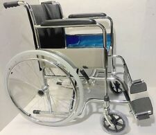 "BR NEW Full Size Adult 18"" Seat Hospital Grade Folding Wheelchair"