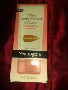 NEUTROGENA OIL FREE ACNE CORRECT AND COVER MOISTURIZER Med to Tan Exp 9/17