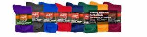 Rawlings Baseball Softball Socks 2 Pair Adult and Youth Sizes Variable Colors
