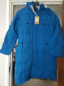 New with tags Ladies Cotton Traders Long Padded Coat Size 22.