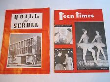 1950 TEEN TIMES MAGAZINE & 1957 QUILL AND SCROLL MAGAZINE - TUB OFC