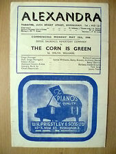Alexandra Theatre Programme 1944- THE CORN IS GREEN by Emlyn Williams
