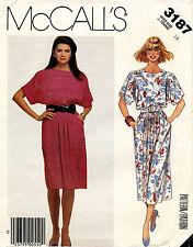1980's VTG McCall's  Misses' Dress and Belt Pattern 3187 Size 14