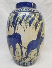 Art Deco Keralouve La Louviere Elephant Vase Lot 5