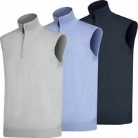 Oscar Jacobson Mens Bob Pin ¼ Zip Golf Vest NOW 40% OFF