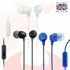 Sony MDR-EX15AP In-ear Headphones with Microphone and Remote Control BLACK