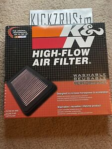 K-N  33-5029  Replacement Air Filter for 2015-20 Ford Mustang, 2.3L, 3.7L, 5.0L