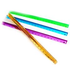 1pc Creative Three Edged Ruler Triangular Scale Clear Measuring Ruler Tools 'TJB