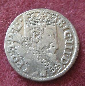 Poland Sigismund III 3 Groschen 1600  Silver Coin